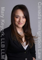 Mary Keyork, immigration lawyer with offices in Toronto and Montreal, fluent in French, Armenian, English and has some Spanish