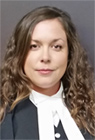Sarah N. Goodman, BBA (hons), Jd Immigration and Employment law lawyer in Vcitoria,  BC,  wearing court robes